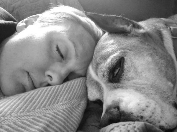 Saul & Stephanie Dog Nap